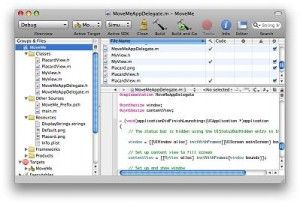 A picture of the Xcode GUI